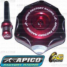 Apico Red Alloy Fuel Cap Breather Pipe For Suzuki RM 125 2003 Motocross Enduro