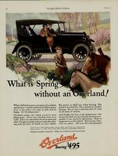 1924 WILLY'S - OVERLAND AUTO CAR AD /  THE TOURING CAR...SIGNED ARTISTS