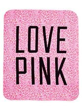 VICTORIAS SECRET LOVE PINK FLEECE BLANKET --NEW