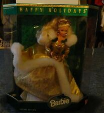 "1994 Happy Holidays Barbie Doll Christmas Special Edition! "" NEW IN BOX"""