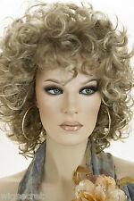 Light Ash Brown  Champagne Blonde Frost Blonde Medium Wavy Curly Wigs