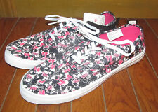 Womens Size 10 Disney Minnie Mouse Shoes Canvas Sneakers Casual Flats
