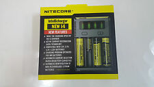 2016 Nitecore Intellicharge i4 Smart Charger for Li-ion, Ni-Cd,& NiMH Battery