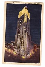 FIRST CENTRAL TRUST BUILDING----AKRON OHIO--- POSTCARD