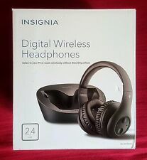 Insignia Digital Wireless Headphones,Rechargeable w/ Docking Station  New !!!