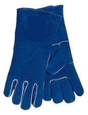 JTillman General Purpose Blue Leather Sock Lined Womens XS Small Welding Gloves