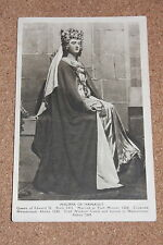 Vintage Postcard:  Philippa of Hainault, Queen of Edward III, Madame Tussauds
