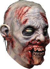 Halloween LifeSize Costume ZOMBIE REVENANT LATEX DELUXE MASK Haunted House NEW