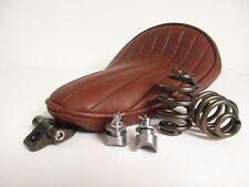 Solo Seat Full Kit Springs & Bracket Heavy Duty Brown Harley Chopper Bobber