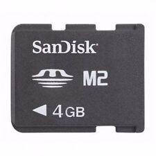 Original SanDisk M2 Card 4GB Memory Stick Micro TM (M2) SDMSM2-004G-B35