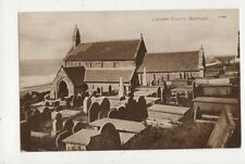 Llanaber Church Barmouth Vintage Postcard 778a