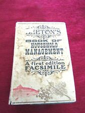 mrs beetons book of household management a first edition facsimile 1974