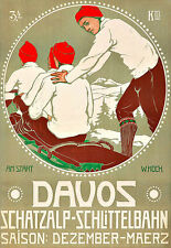 Art Ad Davos Travel Deco  Poster Print