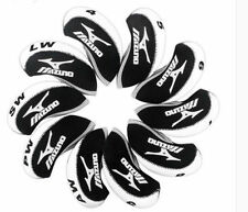 10PCS Black & White Neoprene Golf Iron Covers Head Covers For Mizuno Irons