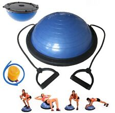 "23"" Inch Balance Ball Trainer Bosu Yoga Fitness Strength Exercise with Pump NEW"