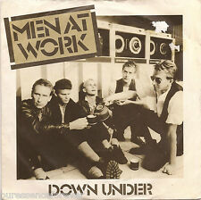 "MEN AT WORK - Down Under (UK 2 Tk 1982 7"" Single PS)"