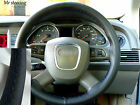 FOR LAND ROVER FREELANDER 2 ITALIAN LEATHER STEERING WHEEL COVER BLUE STITCHING