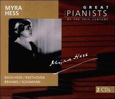 Myra Hess: Great Pianists of the 20th Century, Vol. 45 by Johann Sebastian Bach