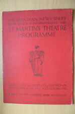 ST. MARTIN'S THEATRE PROGRAMME- IN THE NEXT ROOM by Eleanor Robson & H Ford