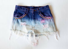 Vintage High Waist Distressed Dyed Purple Denim Cut Off  Shorts UNIF Nastygal