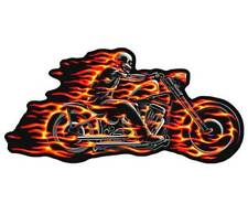 GHOST RIDER FLAMING FIRE MOTORCYCLE  DELUXE EMBROIDERED PATCH