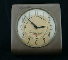 """Naval Observatory Time Western Union Self Winding Clock Company 15"""" Case"""