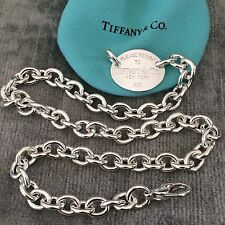 Return To Tiffany & Co New York Oval Necklace