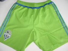 NEW! ADIDAS MLS SEATTLE SOUNDERS ADIZERO LINED GREEN PLAYER SHORTS SZ SMALL $60