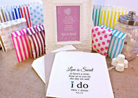 Personalised Wedding Sweet Bags WE SAID I DO LOVE Candy Cart Wedding Favours Con