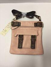 Dasein Soft Washed Vegan Leather Messenger Bag Top Belt Crossbody Bag Shou