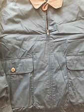 New Gant Jacket With Leather Blue Xl