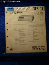Sony Service Manual XES C1 Compact Disc Player (#3007)