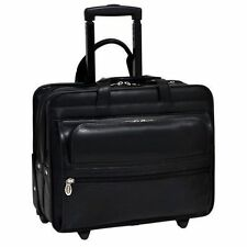 New McKlein 86865C Wheeled 17 Laptop Case 17in Padded Laptop Protection,
