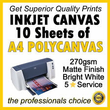 10 sheets of Premium A4 Printing Inkjet Canvas Giclee (not paper) FREE POST