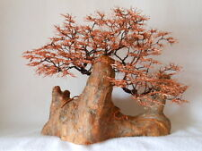WIRE TREE SCULPTURE COPPER METAL DECOR TREE of LIFE US ARTIST BONSAI NATURE NEW