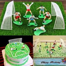 8Pcs Soccer Football Cake Topper Player Birthday Decoration Tool Model Mould Set