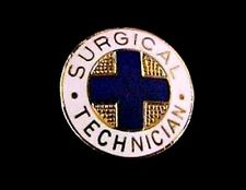 Surgical Technician Medical Insignia Emblem Pin 819 Graduation Gold Plated New
