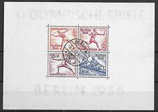 German Reich stamps 1936 MI Bloc 5  Olympics  CANC  VF