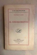 IL RISORGIMENTO GUIDE BIBLIOGRAFICHE LEMMI 1926
