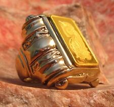 """Arc of the Covenant"" Solid Gold Roman Goddess of Good fortune  Men's Ring"