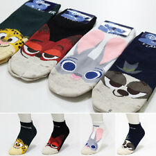 New Disney Zootopia Socks pack of 4 Pairs Judy Flash Nick Friends Cartoon Socks