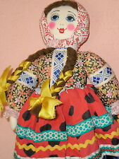 VERY RARE OLD VINTAGE RUSSIAN SOVIET CLOTH DOLL c.1970