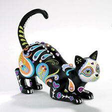 Cat-Tivating Peaceful Sugar Skull Cat Figurine by Blake Jensen NEW