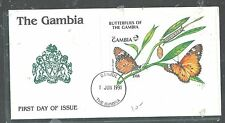 GAMBIA (PP2408B) 1991 D18 BUTTERFLY S/S ON FDC