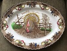 KING-TOM-TURKEY-PLATTER-VINTAGE-IRONSTONE-LOOK AT THE COLORS! YOU'LL LOVE IT!