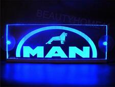 24 Volts MAN LOGO ENGRAVED LED ILLUMINATING PLATES 24V/5W BLUE LED COLOR