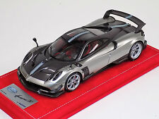 1/18 Looksmart MR Pagani Huayra BC Grigio Mercurio Red Alcantara base