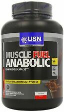 USN Muscle Fuel Anabolic Protein Shake Powder Chocolate Free P&P