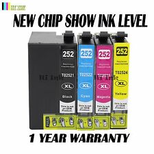 4 Pack New T252XL Ink Cartridge For Epson Workforce WF3620 WF3640 WF7110 WF7620