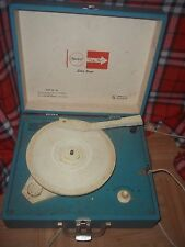 Vintage Imperial 100 Party Time Portable Turntable Record Player Blue & White
